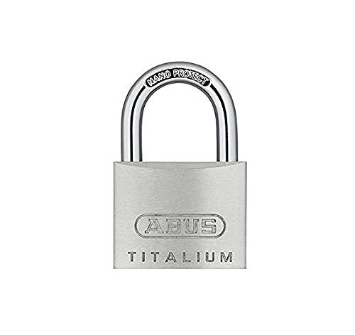 ABUS Vorhängeschloss Titalium 64TI/40 - 4er Set, gleichschließend - Schlosskörper aus Spezial-Aluminium - gehärteter Stahlbügel - ABUS-Sicherheitslevel 5 - Silber