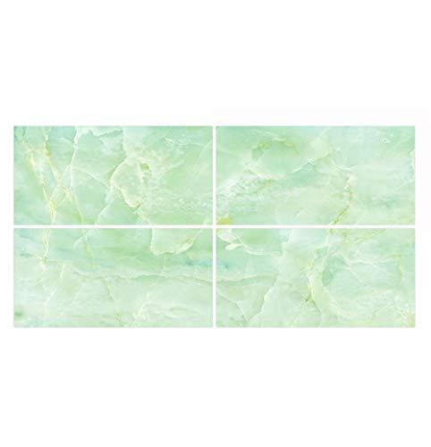 Pegatinas de Baldosas pared Cocina e Baño Azulejos Adhesivos Mármol Vinilos Pegatinas de decorativo de Muebles ,4 Piezas 30x60cm - Verde