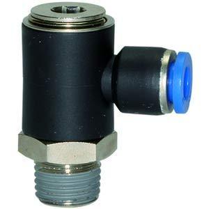 RIEGLER Raccord fileté en L pour tuyau d'arrosage Bleu R 1/2 A L 34,7 mm