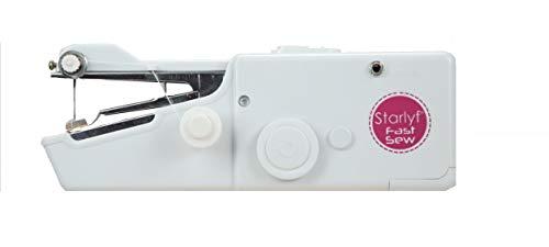 Best Direct Starlyf Original Mini-Nähmaschine bekannt aus dem TV, schnelles Nähen, tragbar, praktisch und einfach für Kleidung, Spannbetttuch, Schal und Vorhang