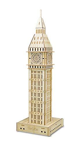 Gxwt Puzzle 3D Toy, el Big Ben, la Asamblea Kits Modelo de Madera, Bricolaje Kits de Edificio Modelo Regalo y Recuerdo for Adultos y niños Decoración
