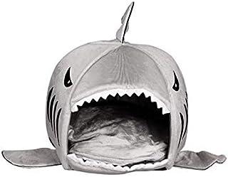 Mumoo Bear House Pet Dog Warm Soft Sleeping Bag Bed Shark Dog Kennel Cat Bed Cave