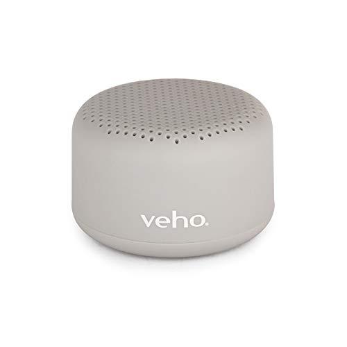 Veho m-1 Bluetooth-Lautsprecher | Stereo-Lautsprecher | tragbar | kabellos | Reiselautsprecher | 3,5 mm Kabelverbindung – Grau (VEP-100-M1-G)