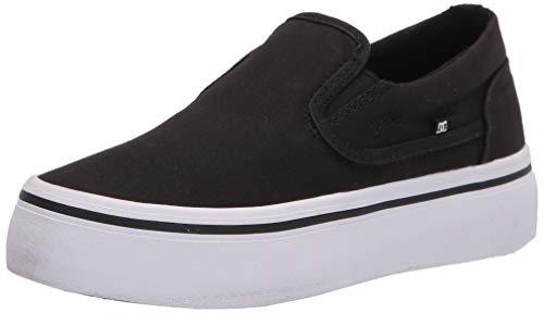 DC Women's Trase Slip Platform Skate Shoe, Black/White, 9.5