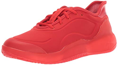 adidas Women's aSMC Court Boost Tennis Shoe, Active red/Active Red/Blackwhite, 10 M US