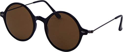 Az Eyewear Icons Round Zonnebril Zwart/Bruin | Polarized