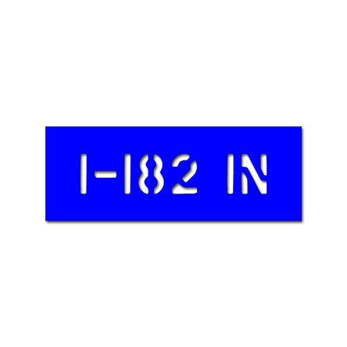Lackierschablonen Aufkleber 1-182 IN US Army Stencil Schablone 23x5cm #A4717