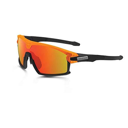 Limar Gafas de Sol F90 Ciclismo Bici Montura Completa Negro Mate Naranja...