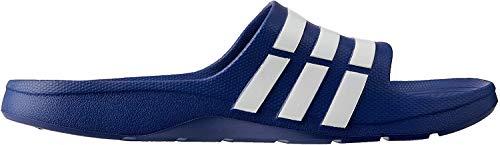 adidas Duramo Slide, Unisex-Erwachsene Dusch- & Badeschuhe, Blau (New Navy/White/New Navy), 40.5 EU (7 UK)