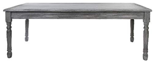 Casa Padrino Landhausstil Shabby Chic Esstisch Antik Grau/Antik Weiß 210 x 110 x H. 80 cm - Handgefertigter Landhausstil Küchentisch