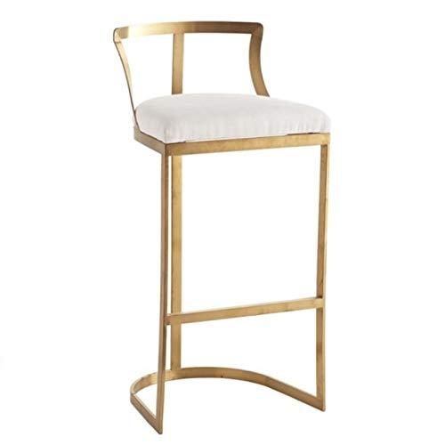 SQQSLZY Taburetes de Bar, taburetes de Bar de Hierro de Lujo, taburetes de Bar, taburetes Altos, taburetes de Bar, taburetes de Bar, sillas Altas, sillas de recepción