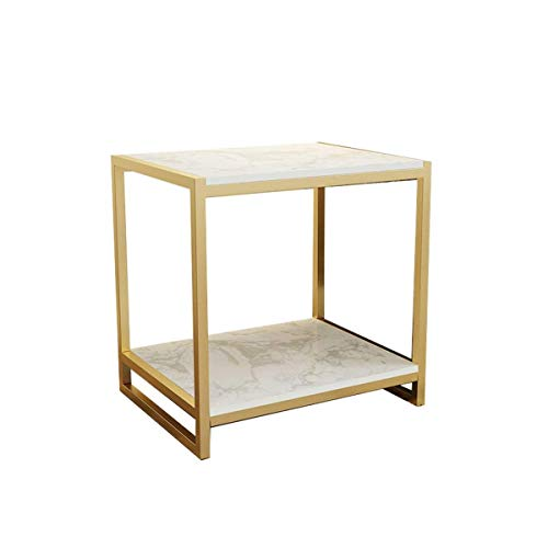 Escritorio de oficina en casa Mesa auxiliar con la mesa de centro de almacenamiento del marco del metal de mesa de mármol Tablas Nest estilo nórdico (Color: Negro + blanco) escritorio plegable