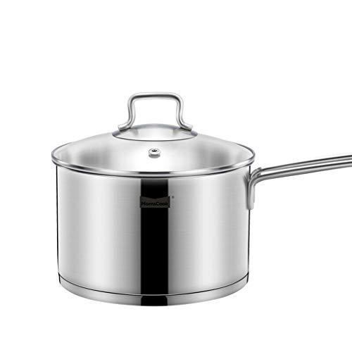 Jia He bouilloire Pot en acier inoxydable 304 épaississement 18cm petit pot de lait pot de lait chaud cuisinière à gaz pot de lait bouillant 2L Jia He@@