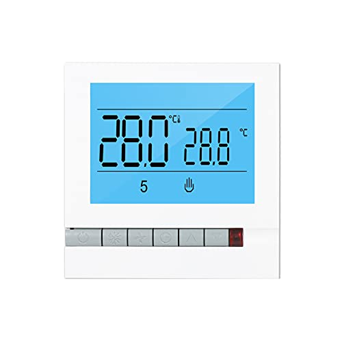 ZIEM Termostato inteligente programable para calefacción de calderas de agua/gas Pantalla LCD grande con controlador de temperatura digital de retroiluminación