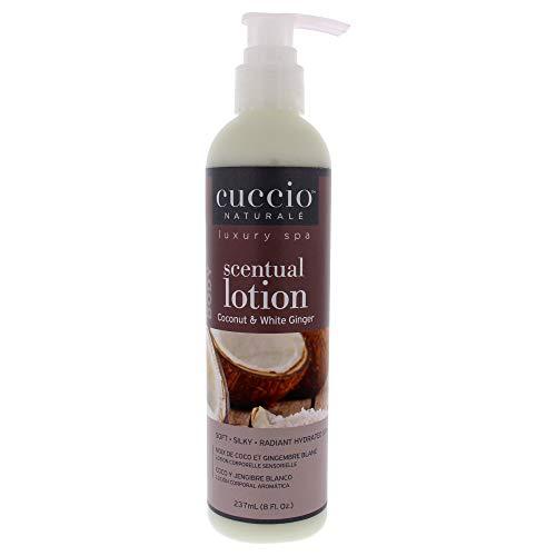 Cuccio Parfumée Noix de Coco/Gingembre Blanc pour Unisexe Lotion pour Corps 8 oz