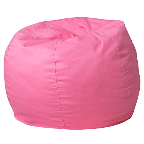 Flash Furniture Small Solid Light Pink Bean Bag Chair for Kids and Teens