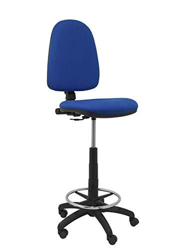 PIQUERAS Y CRESPO t04cp–ergonomischer Hocker, verstellbar in Höhe und ARO Fußstütze blau