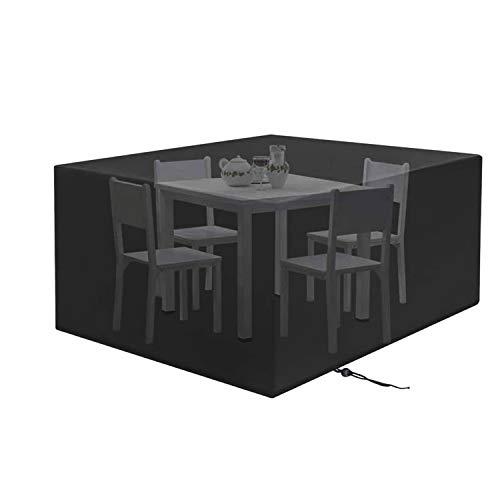PTN Funda para Mesa Jardin Impermeable, Funda para Muebles de Jardín Exterior, Cubierta de Exterior Funda Protectorar Impermeable, Anti-UV a Prueba de Viento, Lluvia y Nieve(270 x 180 x 89 cm)