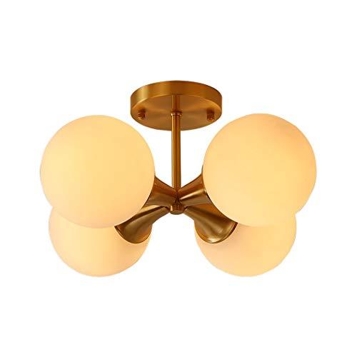 liushop Lámpara de Techo Lámpara de Techo Minimalista Moderna Lámpara de Dormitorio Balcón Pasillo Pasillo Personalidad Creativa Pantalla de Vidrio Lámpara empotrada de Techo