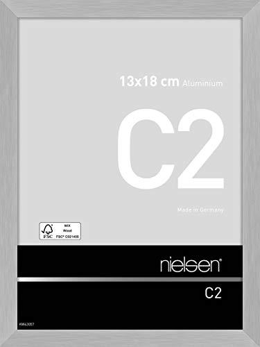 Nielsen Aluminium Bilderrahmen C2, 13x18 cm, Struktur Silber Matt