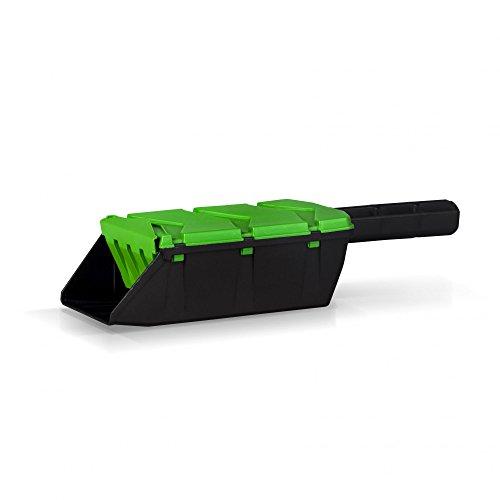 Kunststoff Streuschaufel - Grün/Schwarz