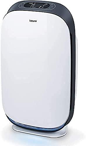 Beurer LR 500 Purificador de aire, con filtro HEPA H13, control de aplicación vía wifi, filtra varias bacterias y virus, con temporizador y modo nocturno, para habitaciones de hasta 106m²