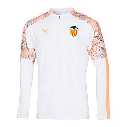 PUMA Valencia CF Training Top 2019-2020 Niño, Sudadera, White-Fizzy Orange