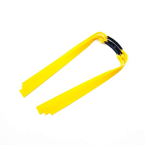 Piaoyu Flat Leather Rubber Band Slingshot Replacement Belt for Hunting Outdoor Shooting Games (Yellow,0.75mm,6pcs)