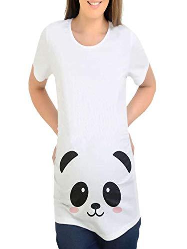 Manadlian - T-shirts T-Shirt Décontracté de Maternité Femme Occasionnel de Bébé de Bande Dessinée des Femmes pour la Maternité Imprimé Panda Top Outwear