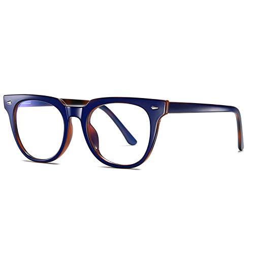 OcchialidaSole Occhiali da Computer Anti Raggi Blu per Donna Occhiali da Gioco con Rivestimento Blu Chiaro Uomo Unisex Blocco Luce Nocivo Eyewear-C4_Blue_Leopard
