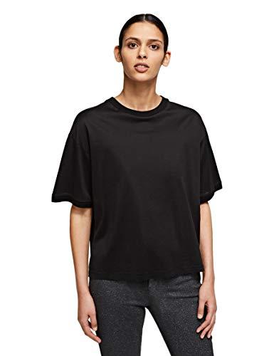 KARL LAGERFELD Mercerized Logo T-Shirt Camiseta, Negro, XS para Mujer