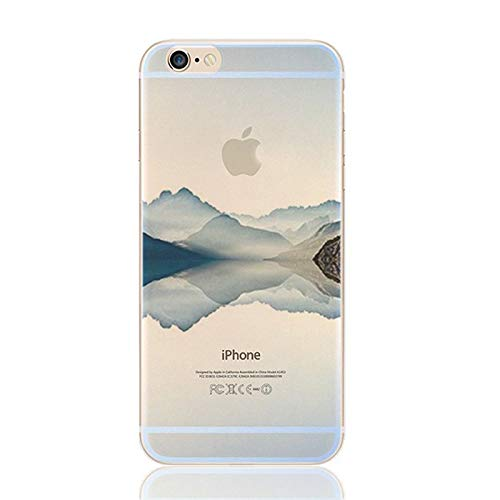 deco fairy iphone 6 case rubbers DECO FAIRY Compatible With iPhone 6 / 6s, Nature Lover Purple Hill Mountain Mount Ghats Valleys Peak Alps Trek Hike Transparent Translucent Flexible Silicone Cover Case
