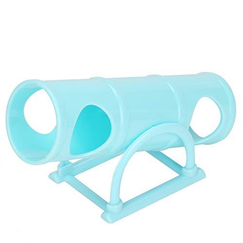 Hamster Tunnel Ejercicio Seesaw Play Túnel Tubo Plástico Pequeño Animal Ejercicio Casa Juguete Zona de Juegos para Enanos Hamster Gerbil Rat Rat(Azul)