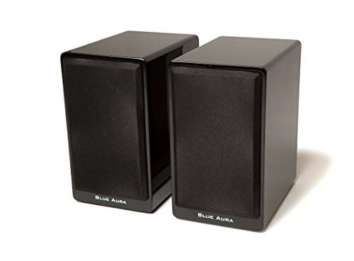 Why Should You Buy Blue Aura PS40 Satellite Bookshelf Speakers High Gloss Piano Black (Pair)