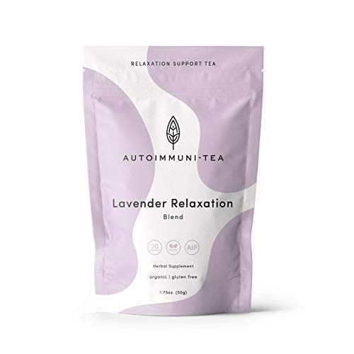 AIP Diet Herbal Tea - Anxiety & Stress Relief Blend for Autoimmune Protocol, Whole 30, Paleo friendly - Anti-anxiety, Calm Loose Leaf Herbs with 100% Organic, Lavender, Passionflower
