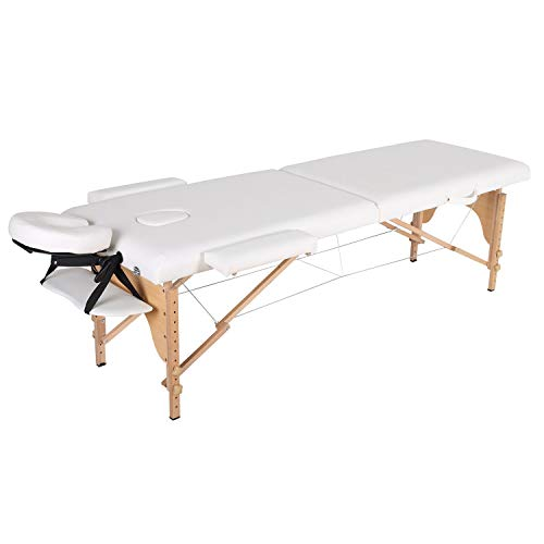 Massage Bed Folding Massage Table Professional With Accessories 2fold White Portable Massage Table