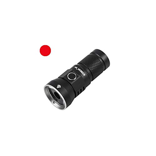ACEBEAM E10 LED-Taschenlampe, Rotlicht, 250 Lumen, 385 Meter lange taktische Taschenlampe mit wiederaufladbarer Akku