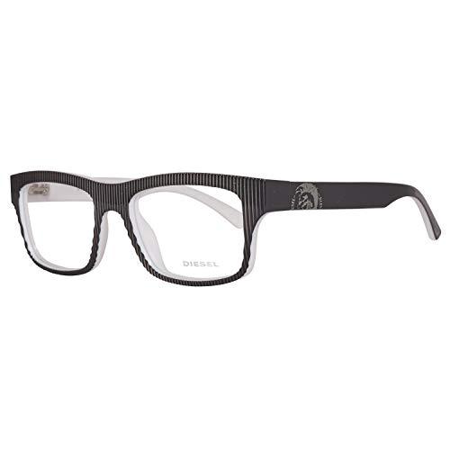Diesel DL5034 52005 Diesel Brille DL5034 005 52 Rechteckig Brillengestelle 52, Grau