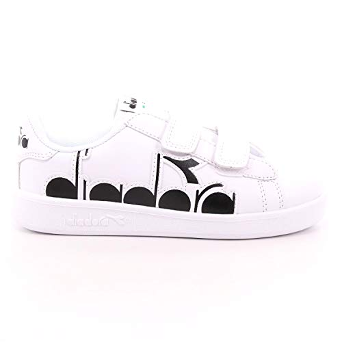 Diadora Scarpe da Ginnastica Sneakers Bambino in Pelle Bianca 101-176275-01-C0351