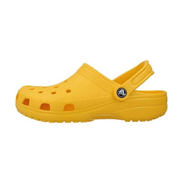 Crocs Classic Clog Comfortable Slip On Casual Water Shoe, Lemon, 9 M US Women / 7 M US Men