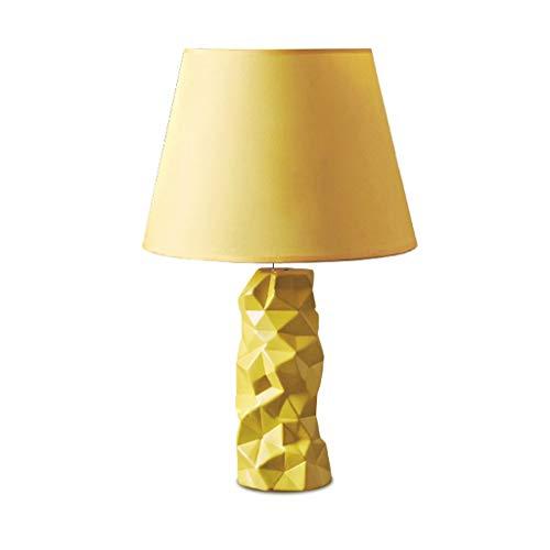 Per il soggiorno, la stanza dei bambini, Lampade da tavolo lampade da scrivania Nordic ceramica lampada da tavolo, camera da letto Comodino modo creativo caldo sveglio Piccolo lampada da tavolo giallo