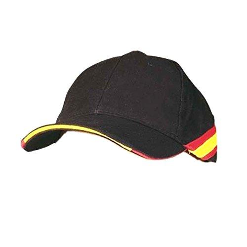 pc Gorra Negra Bandera de España Regulable Padel Golf