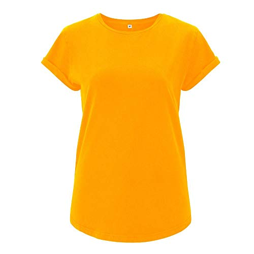 EarthPositive - Damen Stonewashed T-Shirt/Gold, S