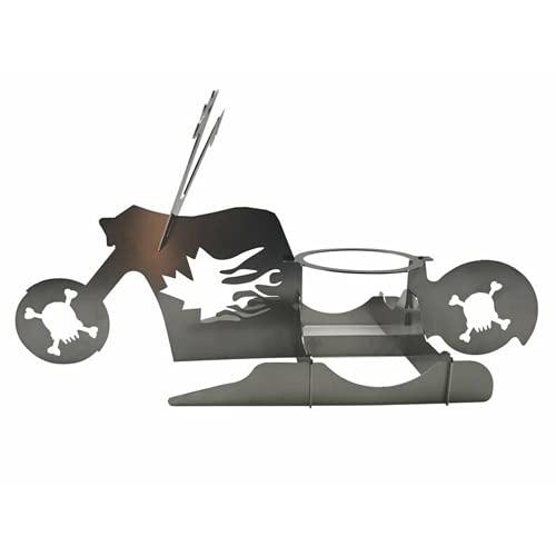 Soporte de pollo BBQ de motocicleta BBQ Portátil Pollo Portátil Barbacoa BBQ Barbacoa de acero inoxidable Skull Star Star Indoor Partido al aire libre Barbacoa Parrilla Accesorio Kit