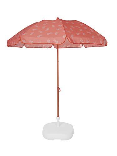 Ezpeleta Sombrilla de Playa Sombrilla terraza Parasol Plegable Protección Solar UPF 50+ Incluye Funda Tejido Estampado y...