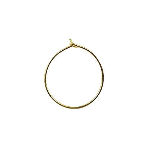 Earwire de forma circular de oro de 18 quilates FG-174-30MM