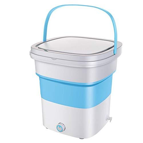 Mini lavadora plegable, Lavadora De Turbinas UltrasóNicas, Mini Lavadora PortáTil Plegable, Pequeño portátil doméstico, Tapa abatible transparente, Asa con hebilla, Fácil de plegar y comprimir.