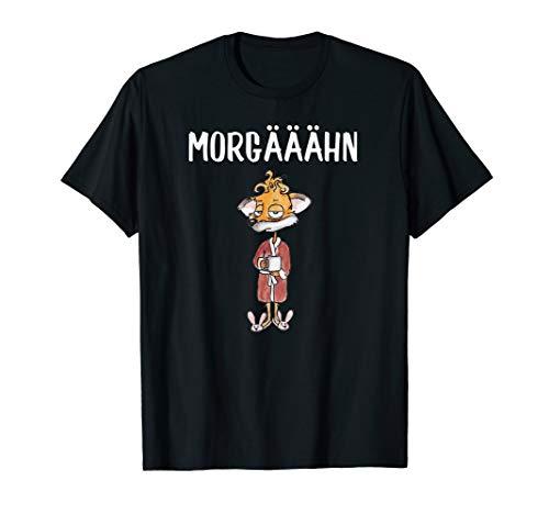 Müder Kaffee Fuchs im Bademantel T-Shirt I Büro Lustig T-Shirt