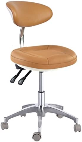 Deluxe Dental Mobile Chair Doctor's Stool Rapid rise Fi Backrest 55% OFF with Micro