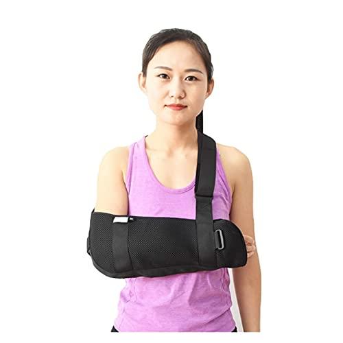 Braccio Ortopedico Imbracatura per Spalla Immobilizzatore Cuffia dei rotatori Polso Gomito Supporto per avambraccio Cinghia per Bretelle Leggero (Taglia : S) Happy Life